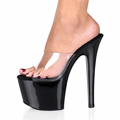 05226842 Talon PVC Blanc Eté Noir Lumineuses Chaussures Femme Chaussures Plateau de club Chaussures Talons à Aiguille Automne Chaussures gTn7n45qZ