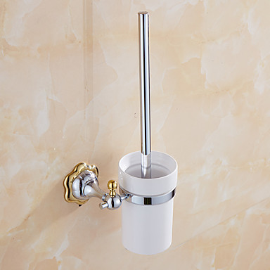 Toiletborstelhouder / Badkamergadget / Spiegelgepolijst / Muurbevestiging /7.7*4.9*14.96 inch /Messing /Modern /19.5cm 12.5cm 1.1KG