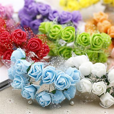 1 haara Styroksivaahto Ruusut Pöytäkukka Keinotekoinen Flowers