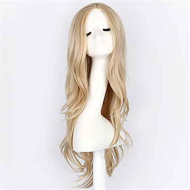 Synthetic Wig Wavy Blonde Synthetic Hair Blonde Wig Women's Long Capless Blonde