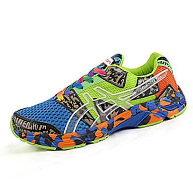 Sneakers-Tyl-Komfort-Unisex-Sort Blå Grøn Orange-Fritid-Flad hæl