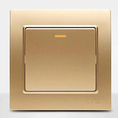 stål indstøbt stål væg skifte champagne en dobbelt kontrol switch