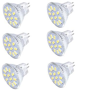 3 GU4 (MR11) LED-spotlampen MR11 12 SMD 5733 250 lm Warm wit / Koel wit Decoratief 30/09 V 1 stuks