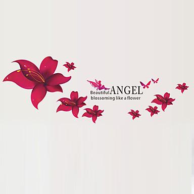 Dekorative Mur Klistermærker - Fly vægklistermærker Blomster Stue / Soverom / Baderom / Kan fjernes