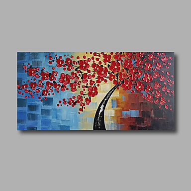 Pintados à mão Floral/Botânico Horizontal, Modern Tela de pintura Pintura a Óleo Decoração para casa 1 Painel