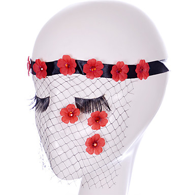 Lace Mask 1pc Holiday Decorations Party Masks Cool / Modieus Een maat Rood Kant