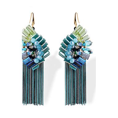 Frynsetip(s) Mode Glas Legering Blomstformet Blå Smykker For Daglig 1 par