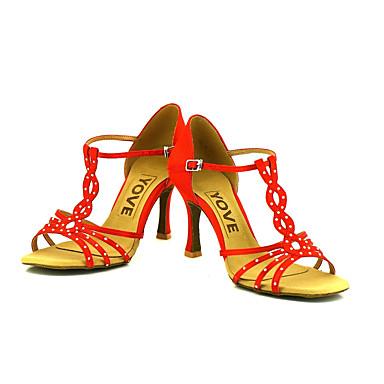 Aanpasbaar-Dames-Dance Schoenen(Zwart / Blauw / Geel / Roze / Paars / Rood / Wit) - metSpeciale hak- enLatin / Salsa