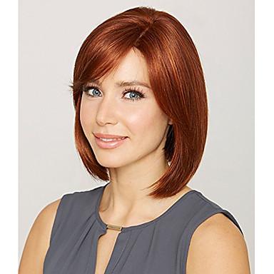 Syntetiske parykker Lige Syntetisk hår Rød Paryk Dame Kort
