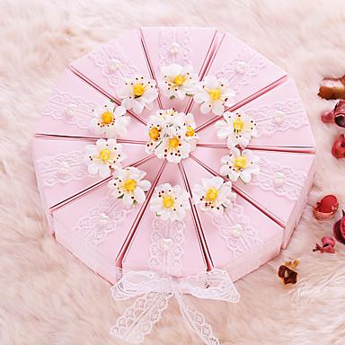 Cilindro Papel de Cartão Suportes para Lembrancinhas com Laço / Renda / Flor Caixas de Ofertas