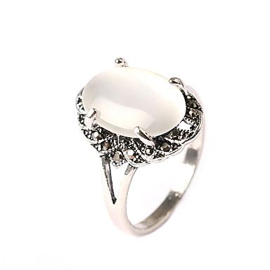 Dámské Vyzvánění Opál Princezna Prohlášení Klasické Vintage Módní Fashion Ring Šperky Bílá Pro Párty Večírek Denní Ležérní 7 / 8 / 9 / 10