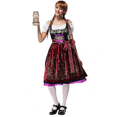 Dienstmeisje Pakken Oktoberfest Cosplay Kostuums Feestkostuum Vrouwelijk Festival/Feestdagen Halloweenkostuums Halloween Kerstmis