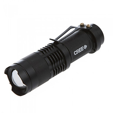 LED Taschenlampen Hand Taschenlampen LED 350 Lumen 3 Modus Cree Q5 14500 AAeinstellbarer Fokus Stoßfest rutschfester Griff Kompakte Größe