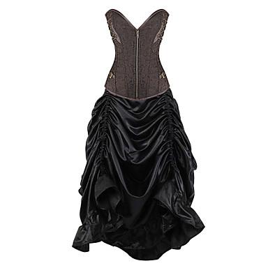 Damen Brustkorsett Nachtwäsche,Retro Jacquard-Elasthan Mittelmäßig Damen