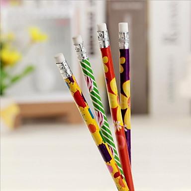 innbundne fire flower design blyant (tilfeldig farge)