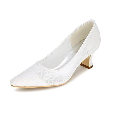 Női Cipő Tüll Tavasz Nyár Magasított talpú Esküvői cipők Vaskosabb sarok Szögletes orrú mert Esküvő Party és Estélyi Fekete Narancssárga