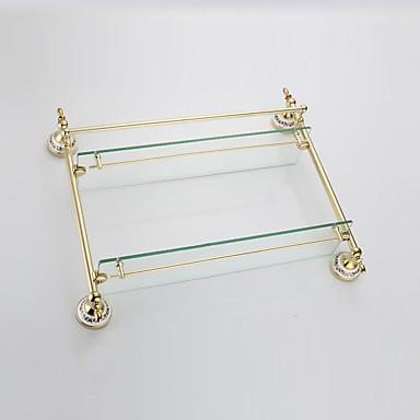 Badezimmer Regal / Gold / Wandmontage /57*14*42cm /Edelstahl / Zinklegierung /Modern /57cm 14cm 3.5