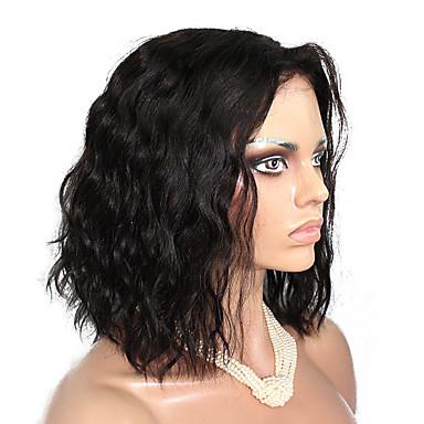 Menneskehår Helblonde Paryk Bølget 130% Massefylde 100 % håndbundet Afro-amerikansk paryk Natural Hairline Kort Medium Lang Dame