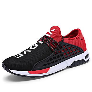 Herre-Tekstil-Flat hælFlate sko-Friluft-Svart Blå Svart og Rød Svart og Hvit