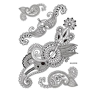 1 Tatuointitarrat Korusarjat Non Toxic / Kuvio / Waterproof / Henna / HäätNaisten / Aikuinen Flash Tattoo väliaikaiset tatuoinnit