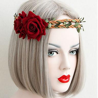 Kant Legering Haarband Rood