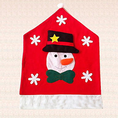1pc snefnug stol hat snemand julen stol cover dekoration køkken indretning