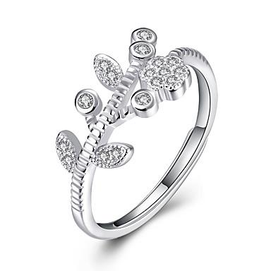 Dames Statement Ring - Sterling zilver, Zilver Feest, Werk, Sexy Verstelbaar Zilver Voor Bruiloft / Feest / Dagelijks