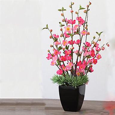 1 1 Tak Polyester / Kunststof Overige Bloemen voor op tafel Kunstbloemen 25.19inch/64cm