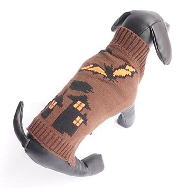 Kat Hond Truien Hondenkleding Vampieren Koffie Katoen Kostuum Voor huisdieren Heren Dames Halloween