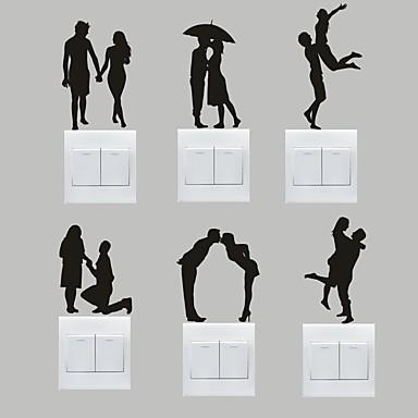 Romance Wall Stickers Autocolantes de Aviões para Parede Autocolantes de Parede Decorativos / Autocolantes de Interruptores de Luz,PVC