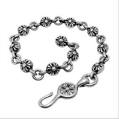 Heren Dames Armbanden met ketting en sluiting ID Armbanden Punk-stijl Modieus PERSGepersonaliseerd Titanium Staal Kruisvorm Sieraden