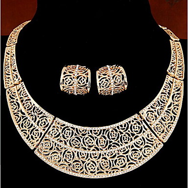 Dames Sieraden Set Ring oorbellen Ketting / Oorbellen Cirkelvorm Kettingen Oorbellen Voor Dagelijks Causaal Giften van het Huwelijk