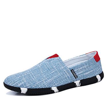 Sneakers-Kunstlæder-Fladsko / Rund tå-Herre-Sort / Blå / Taupe-Hverdag-Flad hæl