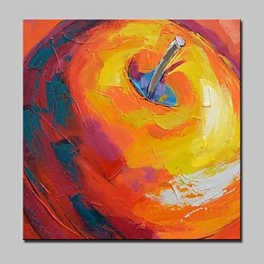 Handgeschilderde Abstract Vierkant, Modern Kangas Hang-geschilderd olieverfschilderij Huisdecoratie Eén paneel