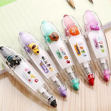 Suprimentos de correção Caneta Fita de correção Caneta,Plástico Barril Cores Aleatórias cores de tinta For material escolarMaterial de