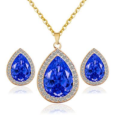 Mujer Conjunto de joyas - Incluir Los sistemas nupciales de la joyería Rojo / Azul / Rosa Para Boda Fiesta