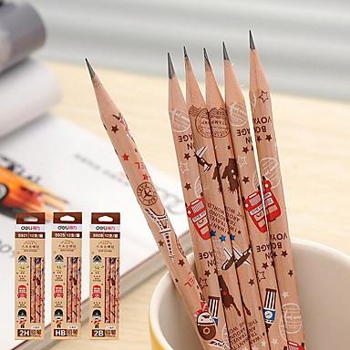 log kynä opiskelijat hb, 2 h ja 2 b puinen kynä