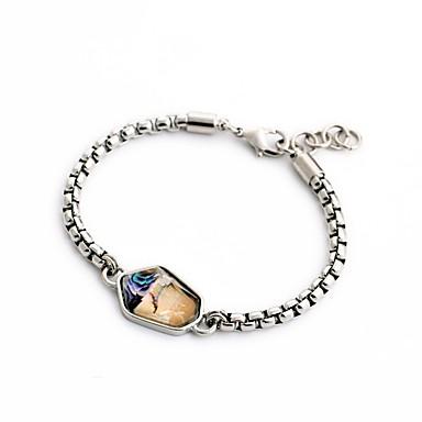 Armbånd Kæde & Lænkearmbånd Legering Geometric Shape Mode Smykker Gave Gylden,1pc