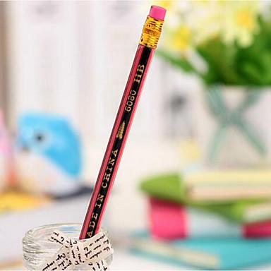 u1431 boutique estudantes vermelho e preto do lápis bombeamento veneno estudantes lápis HB prêmios sem chumbo