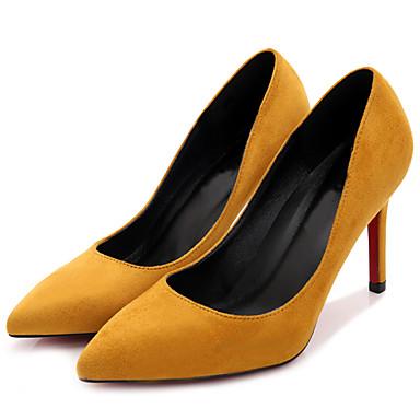 Damen Schuhe Stoff Frühling / Herbst High Heels Stöckelabsatz Gelb / Fuchsia / Khaki / Party & Festivität / Kleid / Party & Festivität