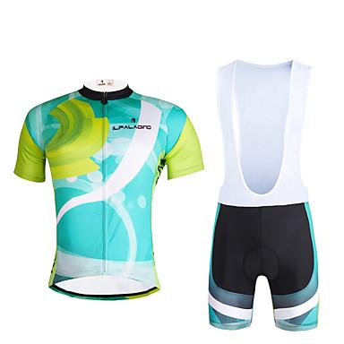 ILPALADINO Hombre Manga Corta Maillot de Ciclismo con Shorts Bib Bicicleta Sets de Prendas, Secado rápido, Resistente a los UV,