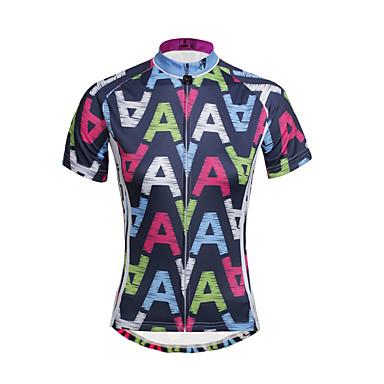ILPALADINO Dame Kortærmet Cykeltrøje Cykel Hurtigtørrende, Ultraviolet Resistent, Åndbart, Svedreducerende, Refleksbånd