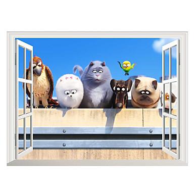 Calcomanías Decorativas de Pared - Calcomanías 3D para Pared Animales / Navidad / 3D Sala de estar / Dormitorio / Baño / Lavable