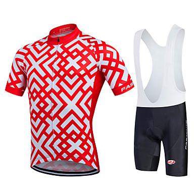Fastcute Maillot de Ciclismo con Shorts Bib Hombre Manga Corta Bicicleta Petos de deporte/Culotte con tirantes Camiseta/Maillot