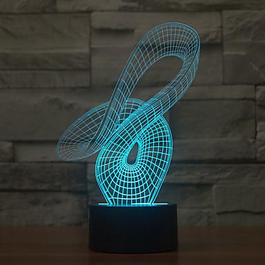 abstract touch dimmen 3d led nachtlampje 7colorful decoratie sfeerlamp nieuwigheid verlichting licht