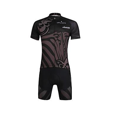 ILPALADINO Herre Kortærmet Cykeltrøje og shorts Cykel Trøje / Tøjsæt, Hurtigtørrende, Ultraviolet Resistent, Åndbart Lycra