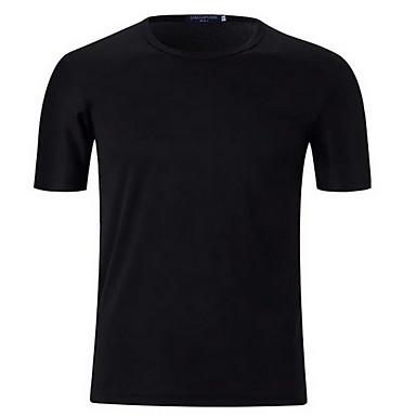 Heren Hardloopshirt Korte mouw Zonbescherming Comfortabel Kleding Bovenlichaam voor Training&Fitness Hardlopen Katoen Chinlon Zwart