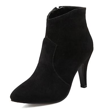 Støvler-Kunstlæder-Hæle / Ankelstøvler / Spids tå-Dame-Sort / Blå / Grå-Kontor / Formelt / Hverdag-Stilethæl
