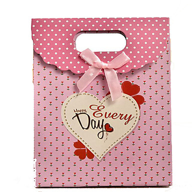 boog roze liefde geschenk zakken lijmen klittenband boutique gift bag wholesale-spot een pak van vijf