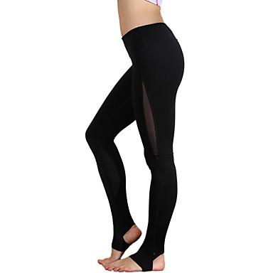 calças de yoga Moletom Respirável Alta Respirabilidade (>15,001g) Compressão Confortável Natural Elasticidade Alta Moda Esportiva Preto
